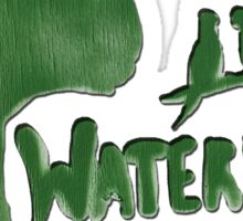 Save Waterloo Green Sticker