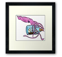 Yarr Me Squiddies! Framed Print