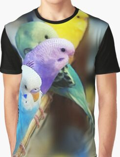 Parakeets Photo Graphic T-Shirt