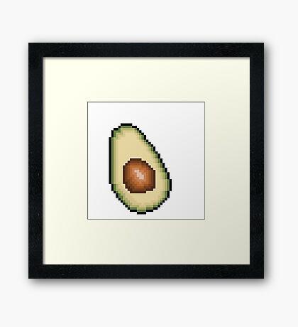 Avocado 8-Bit PIxel Art Framed Print