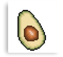 Avocado 8-Bit PIxel Art Canvas Print
