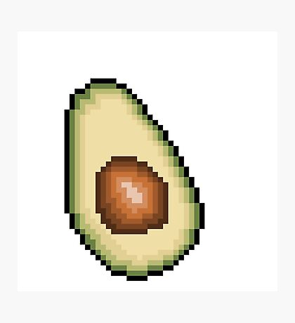 Avocado 8-Bit PIxel Art Photographic Print