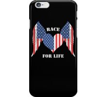 American Race for life iPhone Case/Skin
