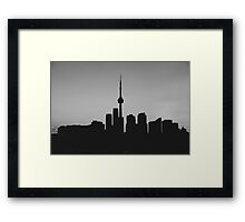 Toronto Skyline Art Framed Print