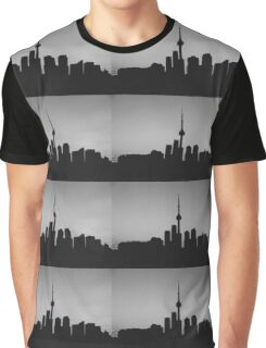 Toronto Skyline Art Graphic T-Shirt