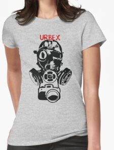 Urban Exploration UrbEx Gas Mask Skull Womens Fitted T-Shirt