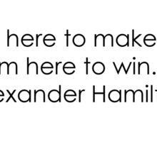 Hamilton: Here to win Sticker