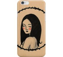 Black hair iPhone Case/Skin