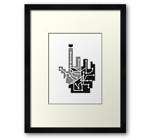 Show mouse hand click computer pc online circuitry pointer arrow control online vote electronically pattern cyborg Framed Print