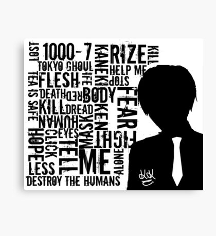 Tokyo Ghoul Typography Design Canvas Print