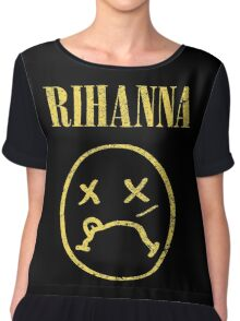 Grunge Rihanna Chiffon Top