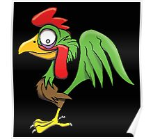 CARTOON ROOSTER Poster