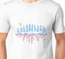 Geometric Crystal Forest and Gemstones Unisex T-Shirt