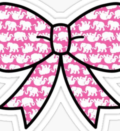 Cute Lilly Elephant Bow  Sticker