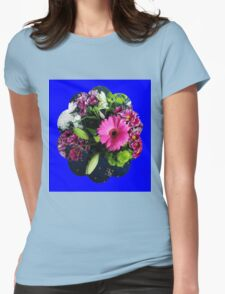 Pink Gerbera Daisy with Other Flowers Womens Fitted T-Shirt