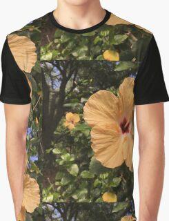 Yellow Hibiscus Graphic T-Shirt