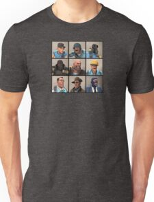 TF2 Blu Team Portraits Unisex T-Shirt