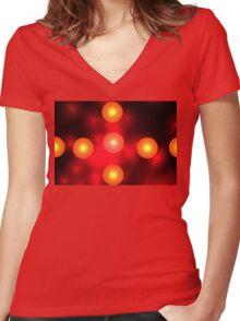 Fireballs Women's Fitted V-Neck T-Shirt