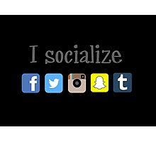 Social Photographic Print