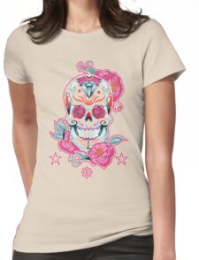 Life is strange Max skull, transparent Womens Fitted T-Shirt