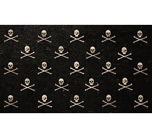 Skulls & Crossbones - Black Photographic Print