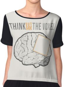 Think Outside the Voxel Chiffon Top