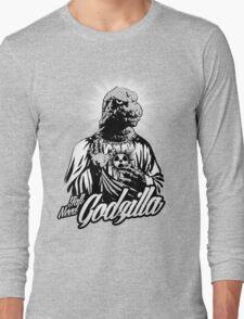 GODzilla is my savior. Long Sleeve T-Shirt