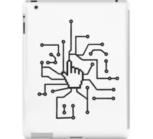 Show mouse hand click computer pc online circuitry pointer arrow control select online electronically iPad Case/Skin