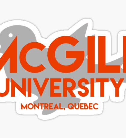 McGill with Martlet Sticker