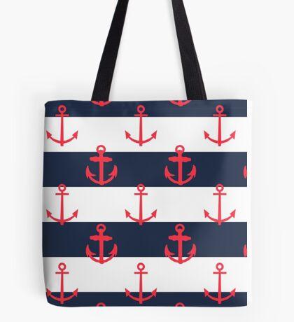 Nautical Anchor Print Tote Bag