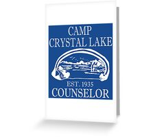 Camp Crystal Lake Counselor Greeting Card