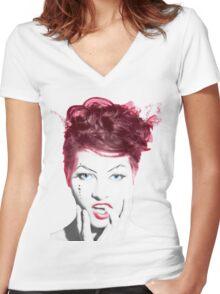 Amanda Palmer Edited Album Cover Women's Fitted V-Neck T-Shirt