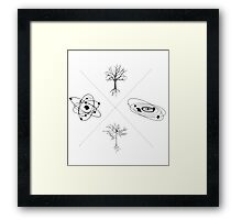 Patterns Across Scales Framed Print