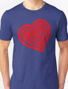 Valentine Heart 10 Red  Unisex T-Shirt