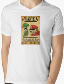 Wanted Mens V-Neck T-Shirt
