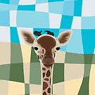 Wild Giraffe Baby on the grassland by thejoyker1986
