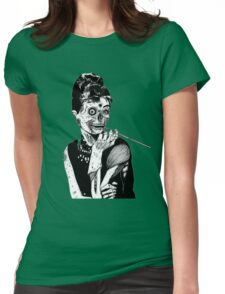 zombies audrey hepburn evil dead zombie Womens Fitted T-Shirt