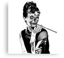 zombies audrey hepburn evil dead zombie Canvas Print
