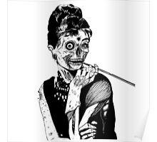 zombies audrey hepburn evil dead zombie Poster