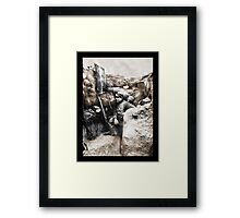 Soldiers Use Periscope Battlefield Framed Print