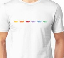 Sail Paper Boats Graphic Design Unisex T-Shirt