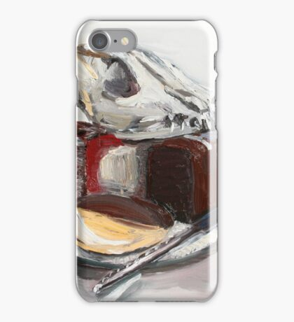 Dog on lamington chocolate cake and nemish tart     iPhone Case/Skin