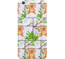 Jungle Monkey Fun Pattern iPhone Case/Skin