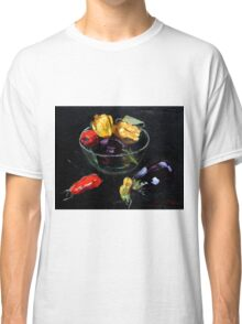 beautiful vegetables on black     Classic T-Shirt
