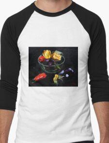 beautiful vegetables on black     Men's Baseball ¾ T-Shirt