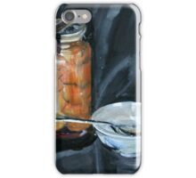 preserved apricots  with bowl and spoon iPhone Case/Skin