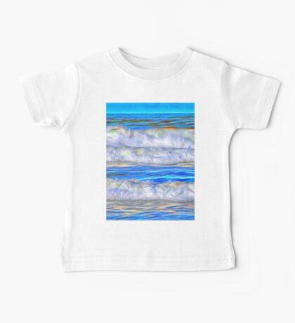 Abstract beautiful ocean waves Baby Tee