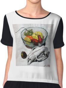wombat fruit bowl Chiffon Top