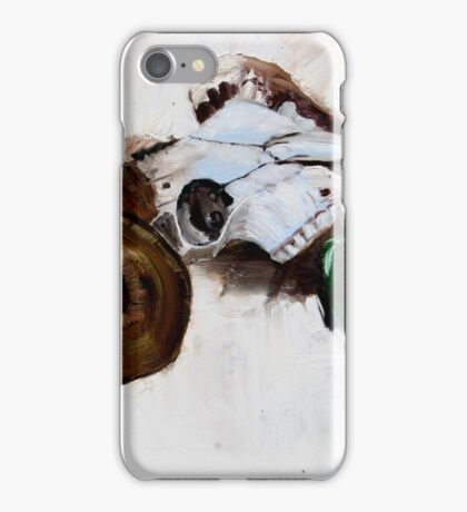 Ram with toy racing car driven by cow iPhone Case/Skin