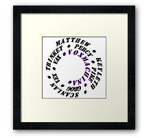 Vox Machina Spiral Framed Print
